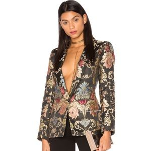 NEW LPA REVOLVE Jacket 100 Floral Jacquard Blazer
